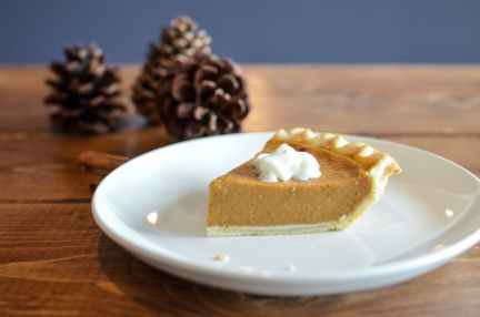 close up photo of sliced pumpkin pie