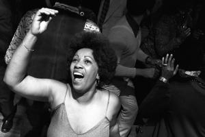 Toni Morrison dancing